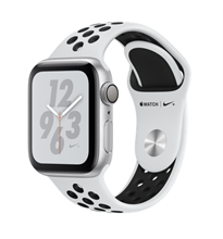 Apple Watch 4 GPS 40mm Nike+ Silver Aluminum Case with Pure Platinum/Black Nike Sport Band